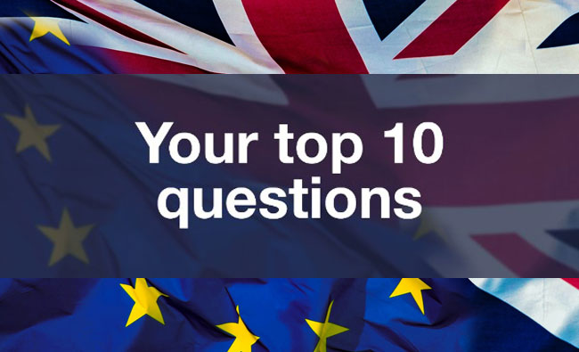 British Embassy - top 10 questions poster