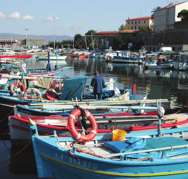 Boats along the docs in France