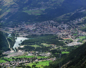 Bourg-Saint-Maurice in the French alps