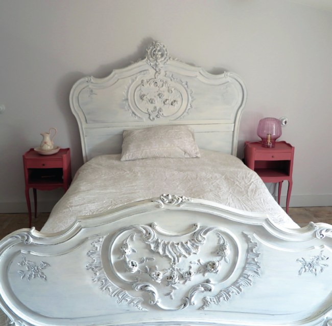 Inside Peter and Claire's in Languedoc property a double bed