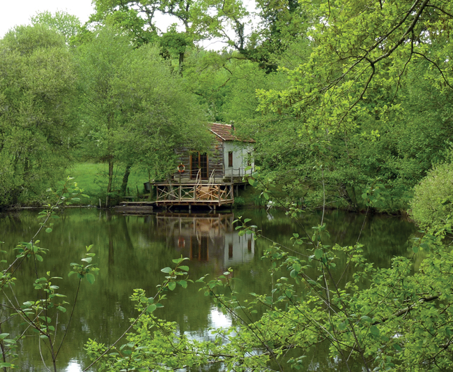 renovated dilapidated lakeside 'bunker'