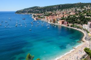 Villefranch-sur-Mer's harbour frequently welcomes cruise ships, whose passengers head on to Nice and Monaco