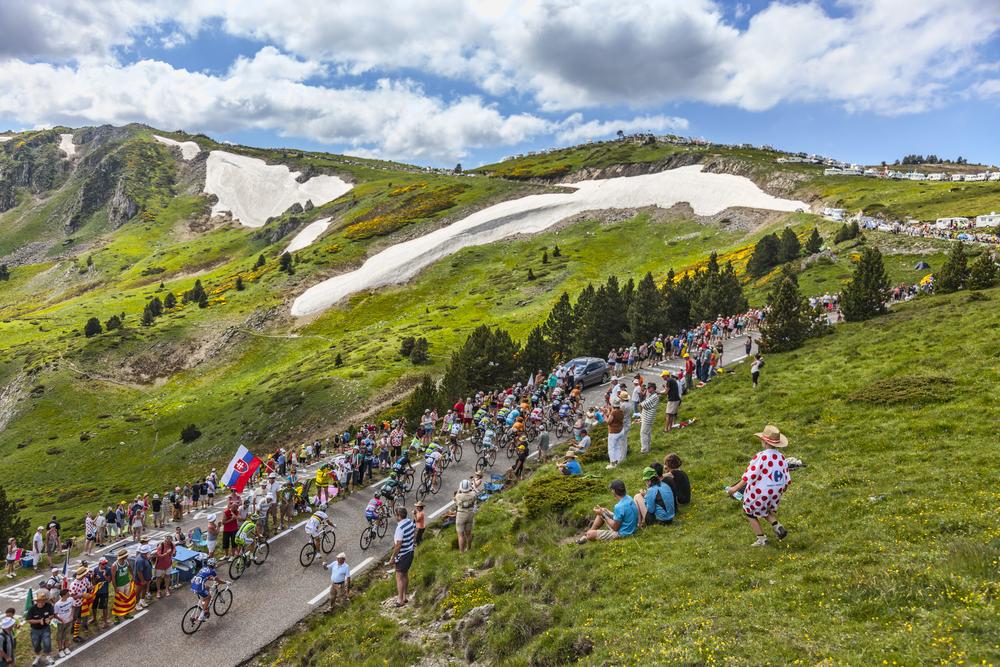 Tour de France Cyclists in Tignes, France