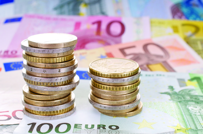 Currency in the form of euros