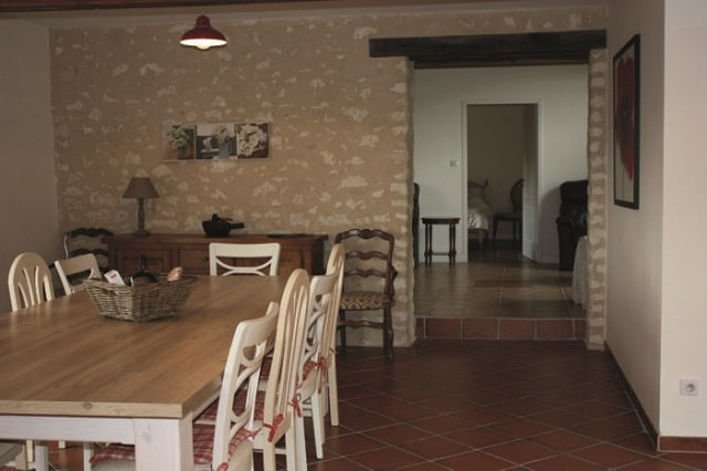 The renovated kitchen in Le Verger