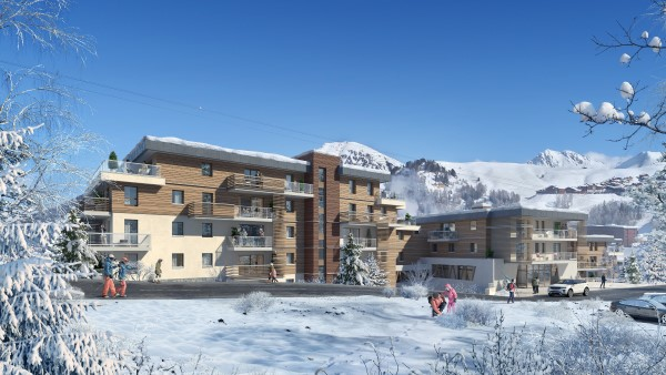 Residence Manaka digital design new development from La Plagne