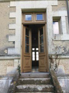 door with glass windows