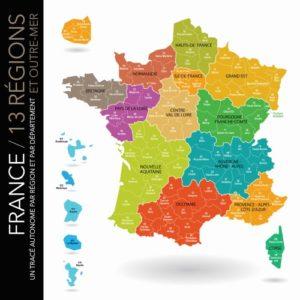 Regional map of France