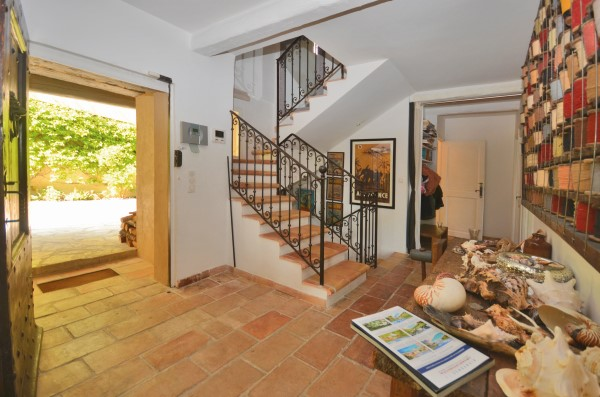 home entrance and stairway