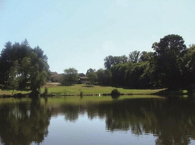 with fishing lake