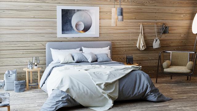 Main bedroom at Les Mazots de Kayla