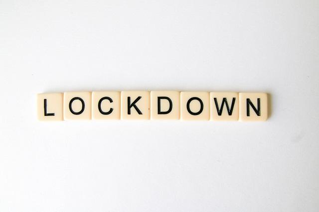Lockdown in scrabble letters