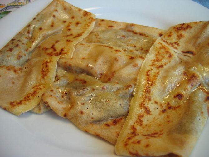 Chestnut and orange crêpes recipe