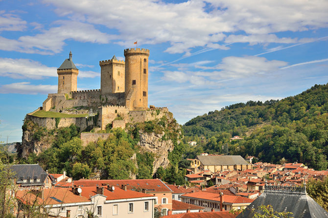 Market day in Foix, the heart of the Ariège