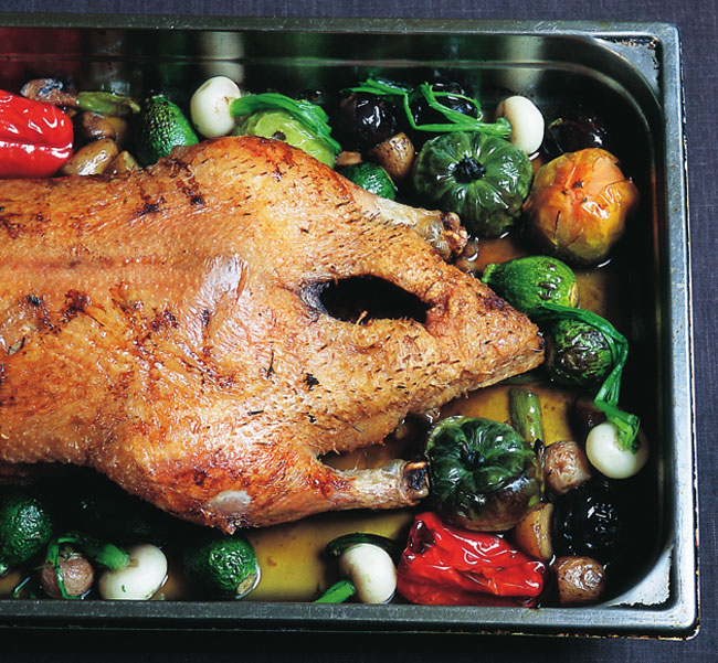 Duck with Turnips and Other Vegetables