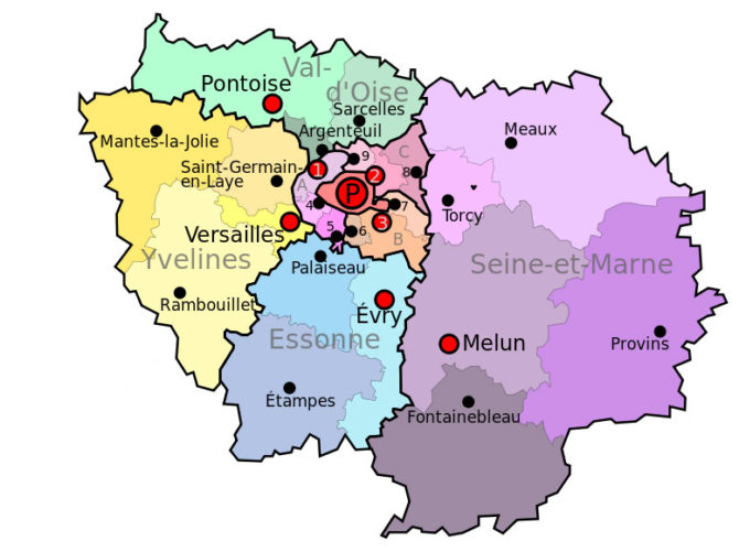 A Guide to the Departments of Île-de-France