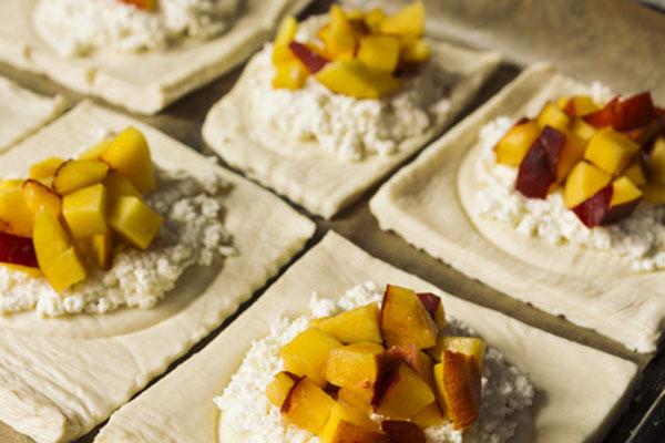Peach and Goat's Cheese Puffs
