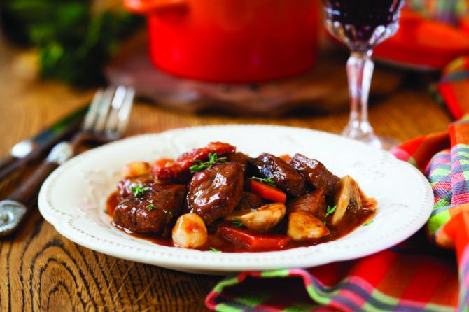 Classic French dish: Boeuf Bourguignon