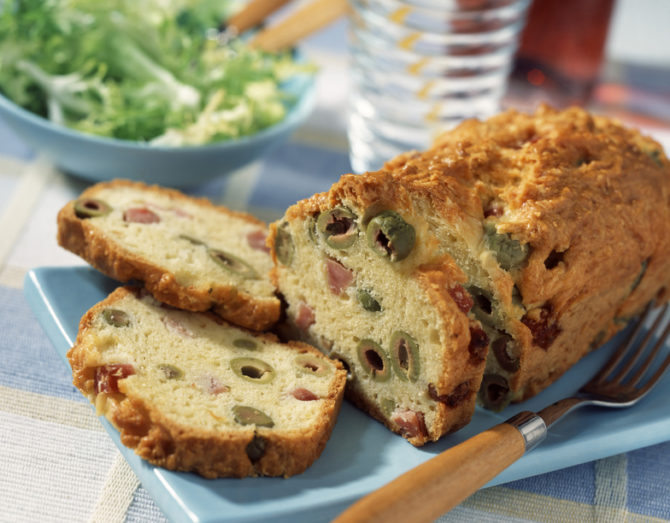 Ham & Olive Bread, a French apéritif favourite