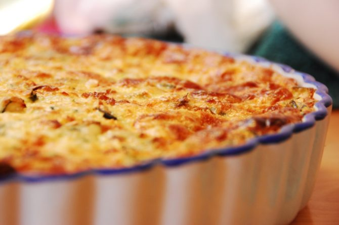 Roquefort quiche recipe from the Aveyron