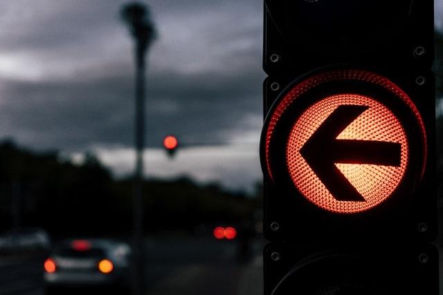 Amber traffic lights