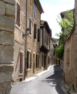 the streets of Alet-les-Bains