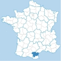 Map of the Aude, Languedoc