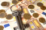 French property taxes represented in euros both cash and coins