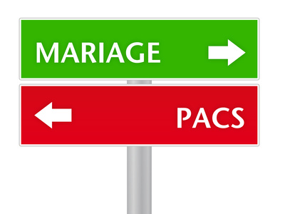 marriage / pacs sign