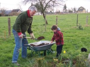 Gardening in Normandy