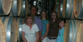 Cowderoy family in winery
