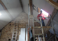 Renovating the barn