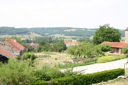 The view from Coral's house in Burgundy!