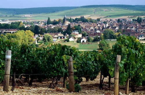 Chablis village in Burgundy