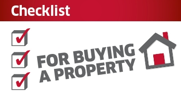 Checklist for buying a property