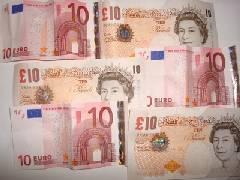 Pound and euro notes