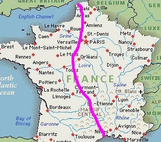 Channel To The Med - France on map