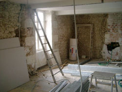 Further interior during renovation
