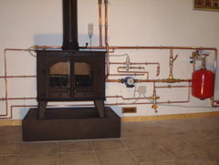 Using a wood burner for central heating