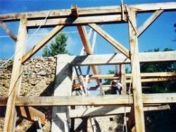 Timber frame to represent eco living