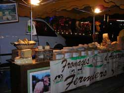 Cheese stall at a local Limousin evening market