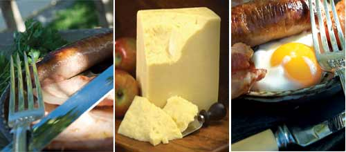 cheese, sausage, bacon, gammon, beef -ready to order on line