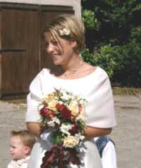 Nicola on her wedding day