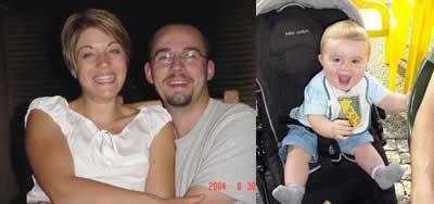 Grandson Thomas and proud parents
