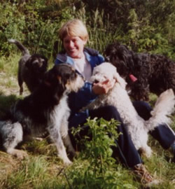 Sue and her dogs