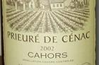 Cahors wine label