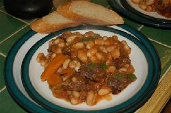 Quercy beef and bean casserole