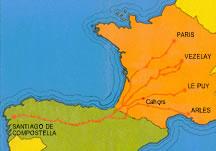 Pilgrim trail to Santiago de Compostella