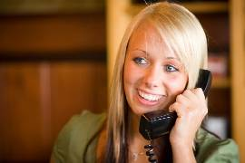 girl talking phone large