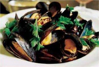 Mussels in parsley
